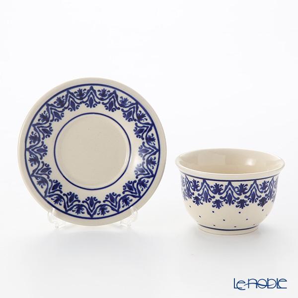 Polish Pottery Boleslawiec Japanese Tea Cup & Saucer 110ml 716/2014 /1169
