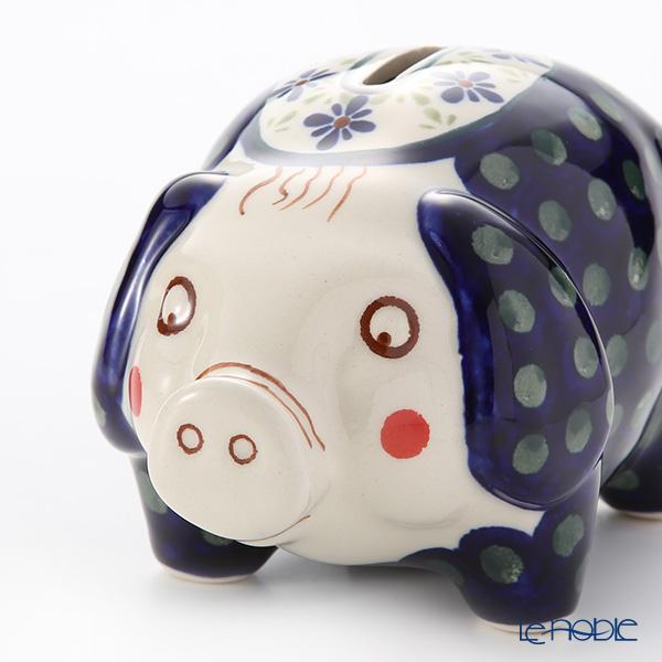 Polish Pottery Boleslawiec '297A-GU1815' Piggy Bank 15.5x10xH9.5cm