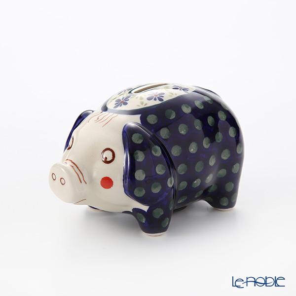 ポーリッシュポタリー(ポーランド陶器) ボレスワヴィエツ ピギーバンク(豚の貯金箱) 15.5cm/H9.3cm 1815/297A