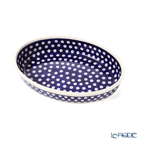 ポーリッシュポタリー(ポーランド陶器) ボレスワヴィエツ ディッシュ/楕円皿/オーバルボウル 19×27.5cm 349A/D-42