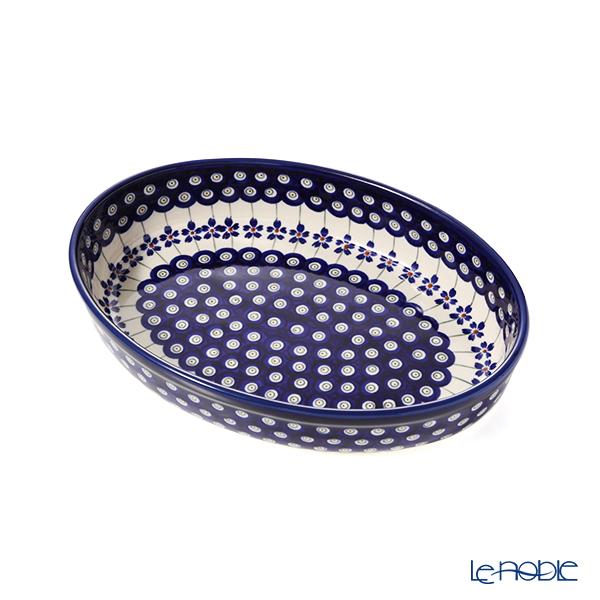 ポーリッシュポタリー(ポーランド陶器) ボレスワヴィエツ ディッシュ/楕円皿/オーバルボウル 19×27.5cm 349A/A-166A