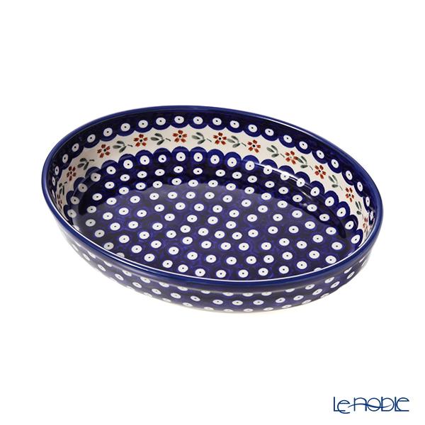 ポーリッシュポタリー(ポーランド陶器) ボレスワヴィエツ ディッシュ/楕円皿/オーバルボウル 19×27.5cm 349A/A-167A