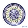 Polish Pottery Boleslawiec '814/1001A' XMAS/Christmas Fir Tree & Snowflake Plate 19.5cm
