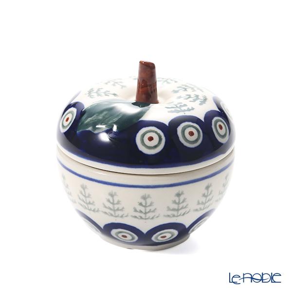 ポーリッシュポタリー(ポーランド陶器) ボレスワヴィエツ キャニスター(リンゴ) 9.2cm/100ml 1899/D-312