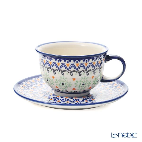 ポーリッシュポタリー(ポーランド陶器) ボレスワヴィエツ ティーカップ&ソーサー 220ml/16cm 775/836/A-1155A