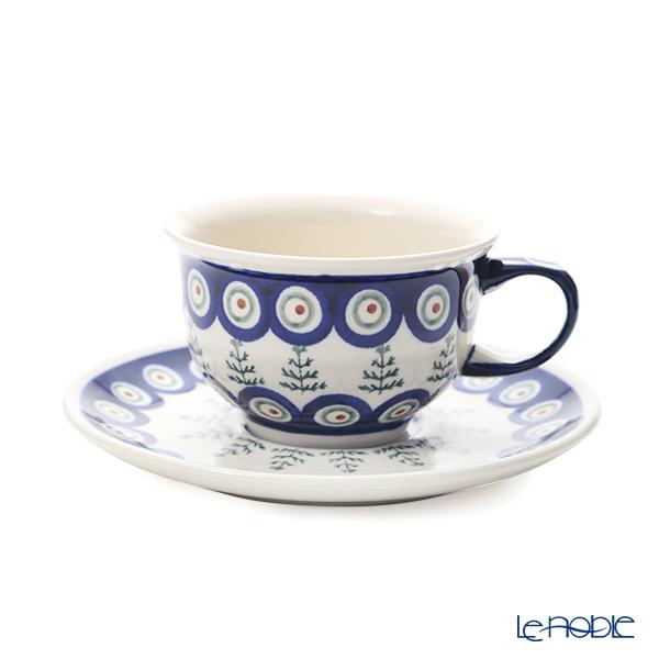 ポーリッシュポタリー(ポーランド陶器) ボレスワヴィエツ ティーカップ&ソーサー 220ml/16cm 775/836/D-312