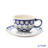 Polish Pottery Boleslawiec '775/836/D-312' Tea Cup & Saucer 220ml