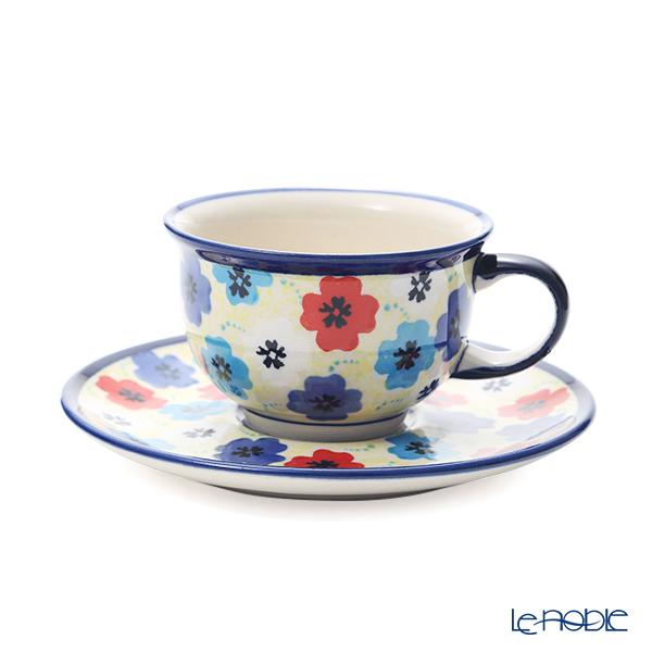 ポーリッシュポタリー(ポーランド陶器) ボレスワヴィエツ ティーカップ&ソーサー 220ml/16cm 775/836/DU-220