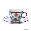 Polish Pottery Boleslawiec '775/836/DU-220' Tea Cup & Saucer 220ml