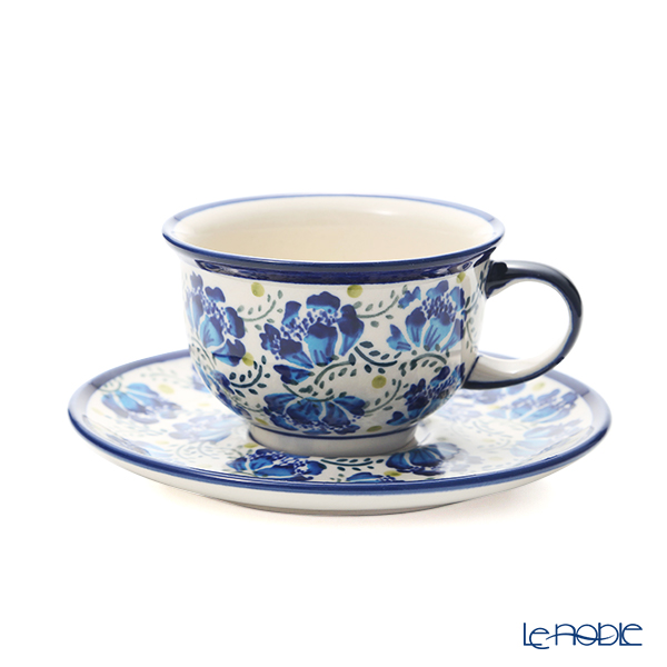 ポーリッシュポタリー(ポーランド陶器) ボレスワヴィエツ ティーカップ&ソーサー 220ml/16cm 775/836/DU-228