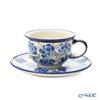 Polish Pottery Boleslawiec '775/836/DU-228' Tea Cup & Saucer 220ml