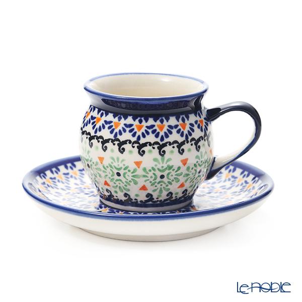ポーリッシュポタリー(ポーランド陶器) ボレスワヴィエツ コーヒーカップ&ソーサー 160ml/14.2cm 913/710/A-1155A