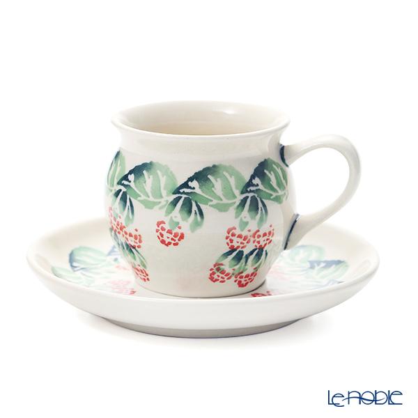 ポーリッシュポタリー(ポーランド陶器) ボレスワヴィエツ コーヒーカップ&ソーサー 160ml/14.2cm 913/710/D-1170