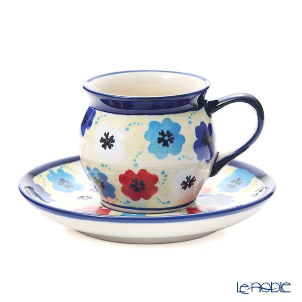 ポーリッシュポタリー(ポーランド陶器) ボレスワヴィエツ コーヒーカップ&ソーサー 160ml/14.2cm 913/710/DU-220