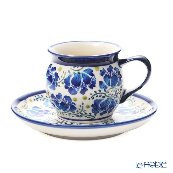 ポーリッシュポタリー(ポーランド陶器) ボレスワヴィエツ コーヒーカップ&ソーサー 160ml/14.2cm 913/710/DU-228