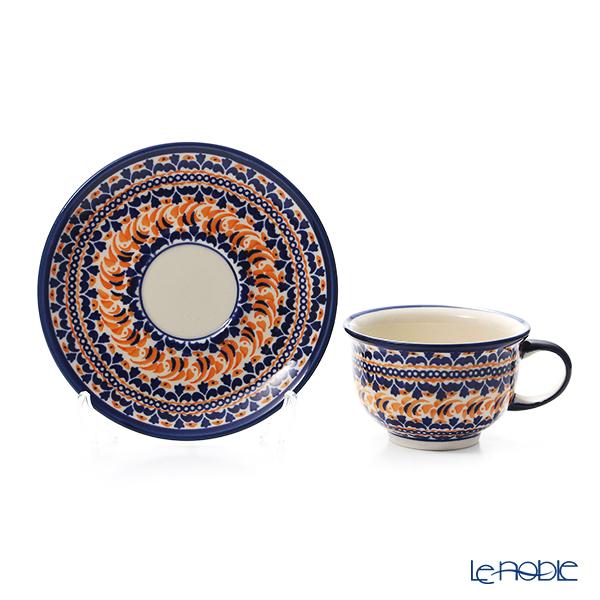 Polish Pottery Boleslawiec '775/836/DU-225' Tea Cup & Saucer 220ml