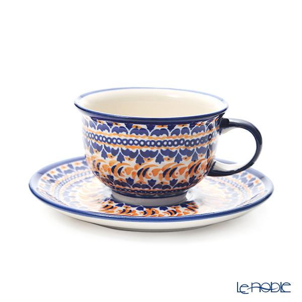 ポーリッシュポタリー(ポーランド陶器) ボレスワヴィエツ ティーカップ&ソーサー 220ml/16cm 775/836/DU-225
