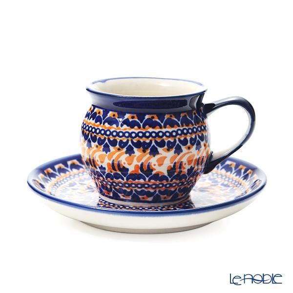 ポーリッシュポタリー(ポーランド陶器) ボレスワヴィエツ コーヒーカップ&ソーサー 160ml/14.2cm 913/710/DU-225