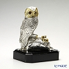 Gold Line SRL limited edition sculpture OWL with baby silver