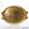 Florentine Wooden Crafts Gold Oval Tray with Ribbon 50.5x36cm
