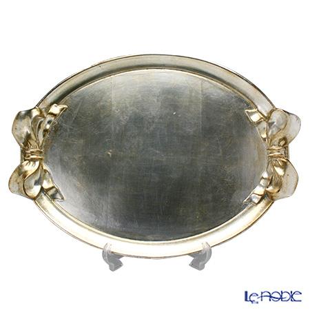 フィレンツェ トレイ オーバル 36×50cm リボン/シルバー