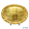 Florentine Wooden Crafts Gold Oval Tray with Fruit Emboss 48x36cm