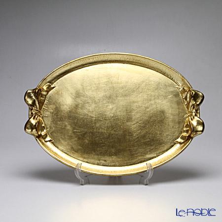フィレンツェ トレイ オーバル 30×43cm リボン/ゴールド