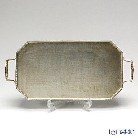 フィレンツェ トレイ オクタゴナル21×35cm ギャラリー シルバー