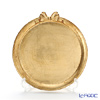 Florentine Wooden Crafts D216 Gold Round Tray with Ribbon 20.5cm