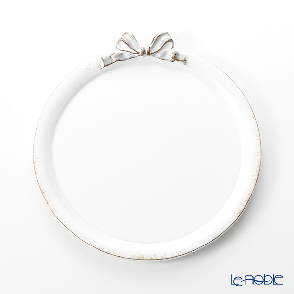 Florence tray round 20 cm white / epoch Ribbon D216.