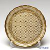 Florentine tray round 24 Cm beige