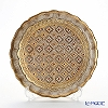 Florentine Wooden Crafts LP216-1 White & Gold Round Tray 24cm