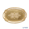 Oval Florentine tray (S) 17 x 26 cm gold / white 12 / GTR-0