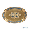 Oval Florentine tray (S) 17 x 26 cm gold / Blue 12 / GTR-0