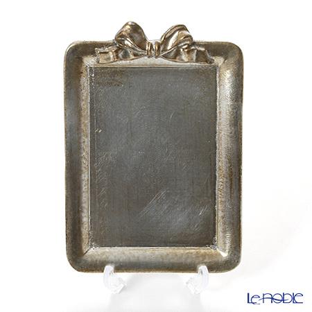 フィレンツェ トレイ ミニ 長方形 13×18.5cm リボン 縦 シルバー