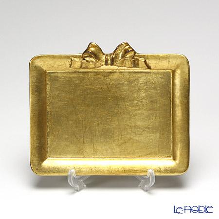 フィレンツェ トレイ ミニ 長方形 17×14.5cm リボン 横 ゴールド