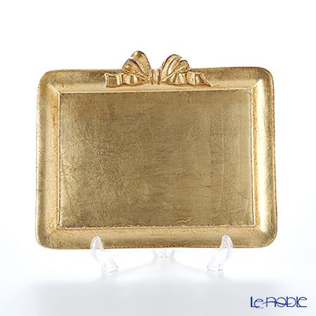 フィレンツェ トレイ ミニ 長方形 19.5×16.5cm リボン 横 ゴールド
