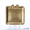 フィレンツェ トレイ ミニ スクエア13×14cm リボン 縦 ゴールド