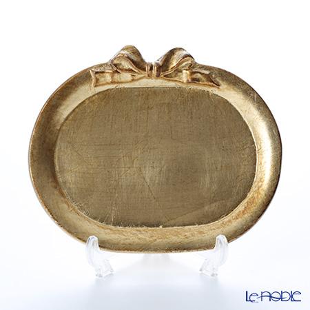 フィレンツェ トレイ ミニ オーバル17×14cm リボン 横 ゴールド