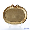 Florentine Wooden Crafts Gold Oval Tray with Ribbon 17x14cm