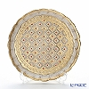 Florence trays-SEZZATINI 1 bunch flower round White Gold LP218/1 24 cm