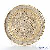 Florentine Wooden Crafts LP218/1 White & Gold Round Tray 24cm