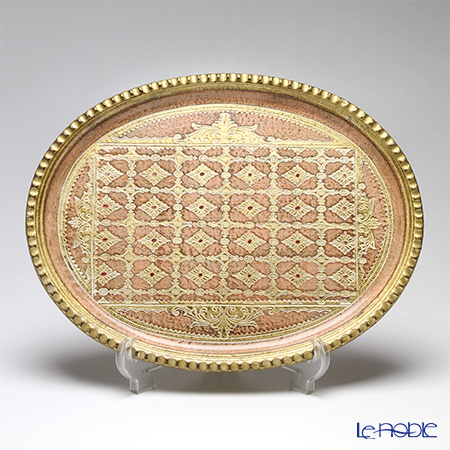 フィレンツェ トレイ オーバル 29×38cm ライトピンク LP224/1