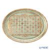 Oval Florentine tray LP224/1 29 x 38 cm light green.
