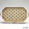 フィレンツェ トレイ 八角32×52cm ホワイト/ゴールド 9920102T