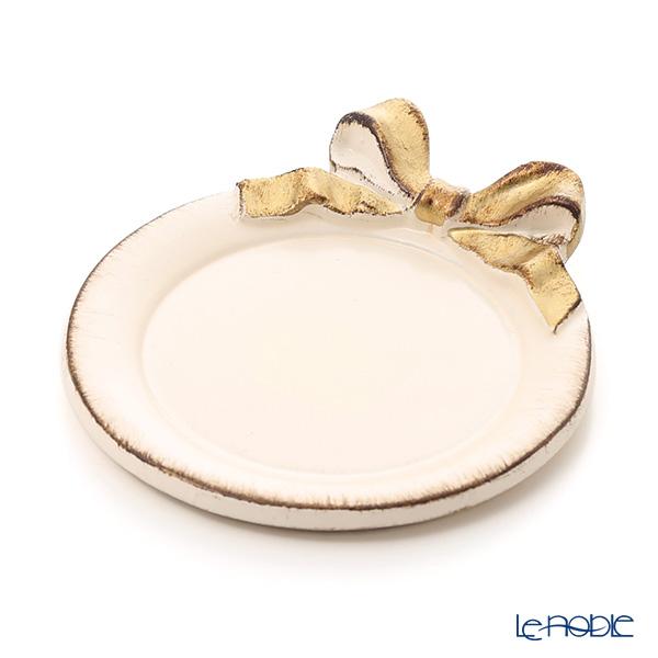 Florentine Wooden Crafts '1020' Pink & Gold Ribbon Round Coaster 10.5cm