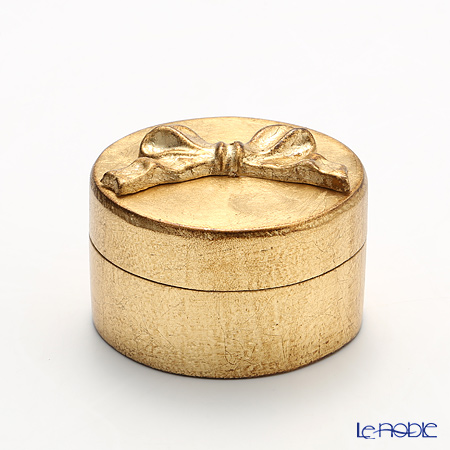 フィレンツェ ラウンドボックス ゴールドリボン 8cm