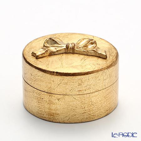 フィレンツェ ラウンドボックス ゴールドリボン 12cm