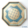 Florence tray octagonal 37 cm Blue / Gold LP231/3.