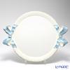 Florentine Wooden Crafts 'White & Light Blue Ribbon' Round Tray 45x55cm